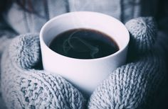mittens and coffee