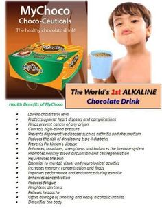 SELLING OF MYCHOCO DRINKS @$15 /box GMAIL: dleoligao@gmail.com WHATSAPP: +821071450385 FDA FR No. 75085 YOUR BENEFITS  • Lowers cholesterol level  • Protects against heart disease and complications  • Helps prevent cancer of any origin  • Controls high-blood pressure  • Enhances, nourishes, strengthens and balances the Immune System  • Offset damage of smoking and heavy alcohol intake  • Enhances sexual vitality  • Increases sperm motility  • Promotes healthy blood circulation and cell… Health And Beauty, Health And Wellness, Health Fitness, Immune System Boosters, Complete Nutrition, Global Business, Cholesterol Levels, High Blood Pressure, Healthy Chocolate