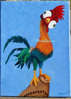 Hei Hei the Rooster from Disney's Moana.  Custom by DisneyObscura