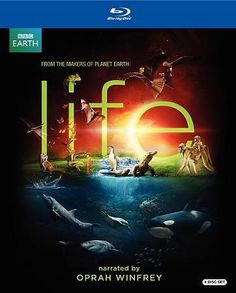 BBC Earth Life Blu-ray Set, narrated by Oprah Winfrey) Canadian version Oprah Winfrey, Life Tv, Film Life, David Attenborough, Dvd Set, Discovery Channel, Killer Whales, Documentary Film, Budget