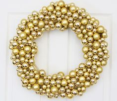 Golden Splendor Holiday Wreath by We Love Wreaths - contemporary - holiday outdoor decorations - Etsy