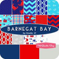 Barnegat Bay Yardage Studio 37 for Marcus Brothers Fabrics - Fat Quarter Shop ~ OMG, the navy and red chevrons ...