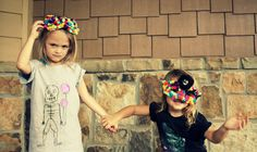 modern, kids, twins, colorful, pom poms, diy masks, www.magenpastor.com