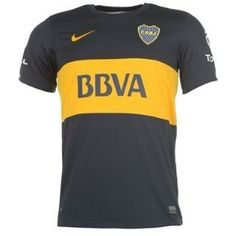 "Nike Boca Juniors Home Jersey 12/13 by Nike. $69.11. Show your support for the blue and gold of Boca Juniors with this official home jersey from Nike. This Dri-FIT jersey has the Boca Juniors team badge and Nike Swoosh logo embroidered at the front. The team's sponsor is printed on the sleeves and ""El Rey Mundial De Clubes"" is printed on the inside collar.100% polyester. Imported."