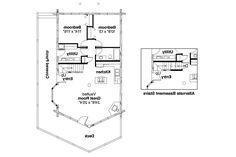 A Frame House Plan   Eagleton 30 020   1st Floor Plan