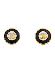 #xmas #Christmas #The RealReal - #Chanel Chanel CC Mother of Pearl Clip-On Earrings - AdoreWe.com