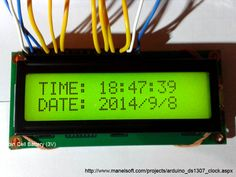 Arduino DS1307 Clock Arduino Projects, Electronics Projects, Pic Microcontroller, Innovation, Electronic Engineering, Digital Clocks, Colorful Wallpaper, Mac Os, Office Phone