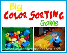 Color Sorting & movement for preschoolers and toddlers