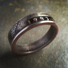 1993 Quarter Ring with Patina 21st Birthday Gift by CoinCollection, $45.00
