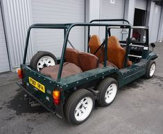 1988 Austin Mini Moke 6 wheeler for Falconry with six appeal For Sale, Comanchero with Six Appeal, Huntingcar for Falconry! Austin Mini Moke Comanchero, model with Classic Mini, Vintage Images, Car Garage, Minis, British, Cars, Vehicles, Ideas, Design