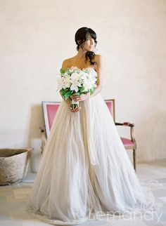 dream strapless sweetheart princess tulle by Lemandyweddingdress, $315.00