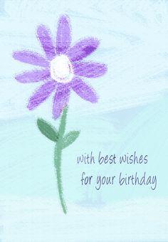#Birthday #Card Free Printable Birthday Flower Greeting Card