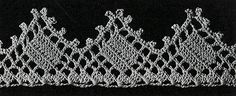 Pointed Filet Edging crochet pattern originally published in Your Home and Its Decoration, Spool Cotton Book 30. #edgingpattern