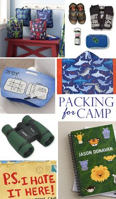 Summer Camp Kids Packing List - These are the Must Haves!  | @kimbyers TheCelebrationShoppe.com