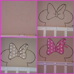 Minnie Mouse in the House. #DIY creativity in progress!