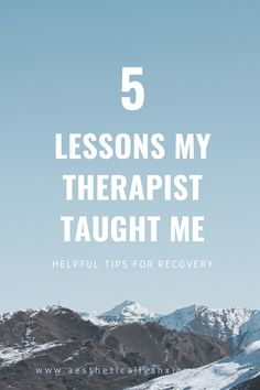 5 Things I Learned In Therapy - Aesthetically Anxious Depression Recovery Tips, Depression Symptoms, Mental Health Therapy, Therapy Quotes, Feeling Sleepy, Overcoming Anxiety, Anxiety Tips, Feeling Insecure, Psicologia