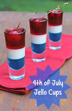 Are you looking for a stand out treat for your BBQ, party or picnic? Try these visually stunning 4th of july Jello Cups.