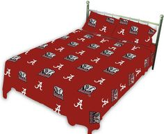 Alabama Printed Sheet Set Queen - Solid - ALASSQU by College Covers