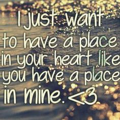That's all I want ♥....I know it's unrealistic but at least it is the TRUTH.