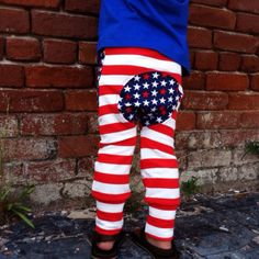 American Flag Monkey bum Pants