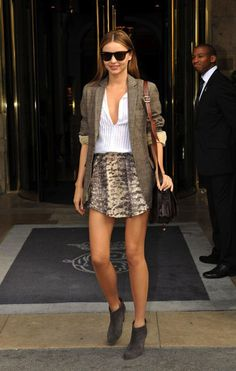 skirt w/ ankle boots