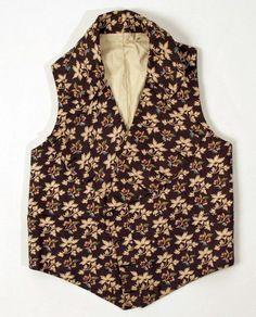 Waistcoat ca. 1840 via The Costume Institute of the Metropolitan Museum of Art