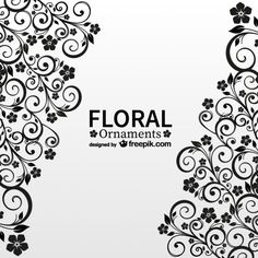 Antique floral free vector card