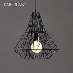Paibolan retro industrial chandelier study bar Coffee Museum Vintage chandeliers simple geometric antique lamp P026