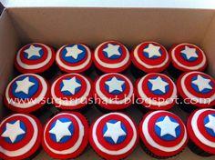 captain america birthday cake | sugar rush art: Captain America