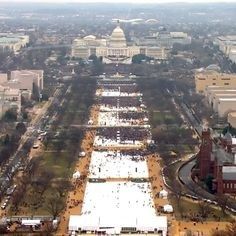 Early estimates put the crowd gathered for President Donald J. Trump's inauguration at far less than President Obama's in 2009.
