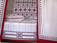 Looks very lovely... Chuvash (Russia) traditional folk embroidery