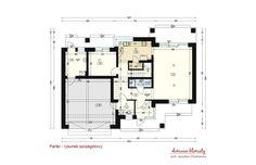 Projekt domu Verona III, wizualizacja 3 Verona, Small Modern Home, Bungalow House Design, House Entrance, Modern House Plans, Ground Floor, Planer, Building A House, Floor Plans