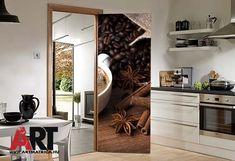 Ajtóposzter öntapadós matrica kávé dekor. Nem csak ajtókra, bármilyen hasonló felületre alkalmazható. #ajtóposzter #ajtómatrica #kávé #artmatrica #lakásdekor