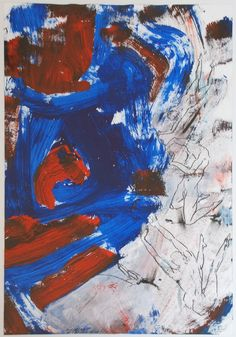 socialclaustrophobia:  Christian Ludwig Attersee(Austrian, b. 1940) /Blauarbeit[bluework], 2010,mixed media on cardboard, framed,63 × 4... Modern Art, Contemporary Art, Ludwig, Printmaking, Street Art, Abstract Art, Mixed Media, Collage, Drawings