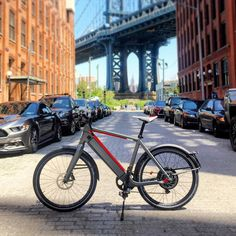 Instagram picutre by @propelbikes: Enjoying some time out on the new ST2 S. I knew we closed Monday's for some reason. #stromer #st2 #st2s #ebike #ebikes #electricbike #dumbo #dumbobrooklyn #ridenyc #propelbk - Shop E-Bikes at ElectricBikeCity.com (Use coupon PINTEREST for 10% off!)