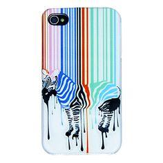 Kleurrijke+zebrapatroon+Terug+Case+voor+iPhone+4/4S+–+EUR+€+2.75