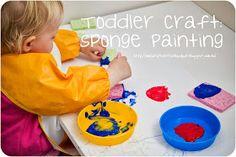 littleblueduck: Toddler Craft: Sponge Painting