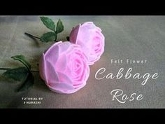 Learn to make felt flowers in this felt flower tutorial video, here is felt cabbage rose, this felt flowers can be use for filling the felt flower bouque. Handmade Flowers, Diy Flowers, Fabric Flowers, Zipper Flowers, Felt Crafts Diy, Felt Diy, Fabric Crafts, Diy Rose, Felt Flowers Patterns