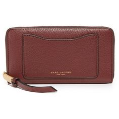 Marc Jacobs Recruit Continental Wallet ($210) ❤ liked on Polyvore featuring bags, wallets, marc jacobs bags, continental wallet, marc jacobs wallet, red wallet and red bag