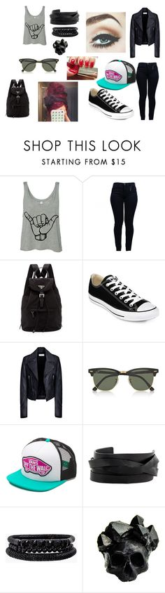 """""""Untitled #4"""" by ghost-zone ❤ liked on Polyvore featuring Armani Jeans, Prada, Converse, Balenciaga, Ray-Ban, Vans, Dolce&Gabbana, Gucci, Spring Street and Macabre Gadgets"""