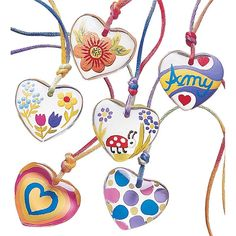 Color My Heart Pendant Necklace Craft Kit   Hearthsong