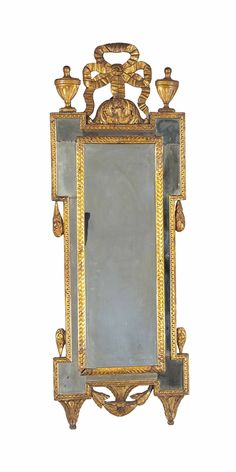 ITALIAN GILTWOOD MIRROR, LATE 18TH CENTURY