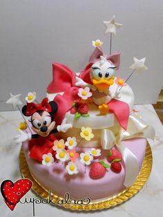 minnie and daisy cake by ciupakabra