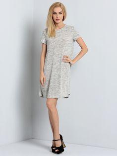 Grey Tees Short Sleeve Casual Dress