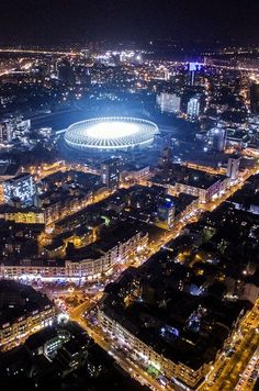 """/ Stadium """"Olympic"""" in the middle of the action. Cool Places To Visit, Places To Go, Places Around The World, Around The Worlds, Ukraine, Olympics, City Photo, Middle, The Unit"""