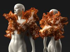 Neri Oxman's Wearable structures for Interplanetary Voyages – Parametric Architecture 3d Fashion, Weird Fashion, Fashion Design, High Fashion, Neri Oxman, Conceptual Fashion, Body Adornment, Pilgrim, Costume Design