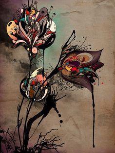 "Linn Olofsdotter has very interesting art. It's so colorful, but kind of ""dark"" at the same time.   linn.olofsdotter.com"