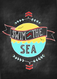 free printable series: swim in the sea 5x7