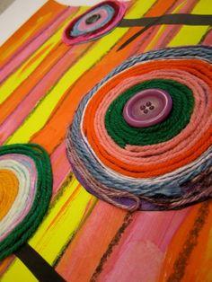 Hundertwasser flower yarn spiral