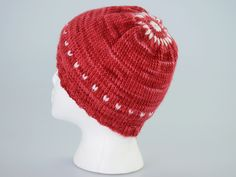 100% Malabrigo, V hat, my design.